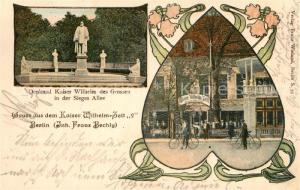 AK / Ansichtskarte Berlin Denkmal Kaiser Wilhelm der Grosse Sieges Allee Kaiser Wilhelm Zelt Berlin