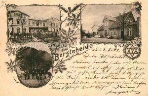 AK / Ansichtskarte Bargteheide Bahnhof Huenengrab Gasthaus Schleswig Holstein Eiche Bargteheide