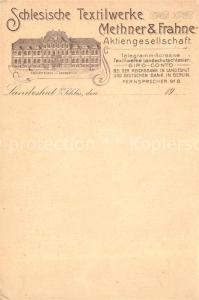 AK / Ansichtskarte Landeshut_Schlesien Schlesische Textilwerke Methner Frahne Landeshut_Schlesien