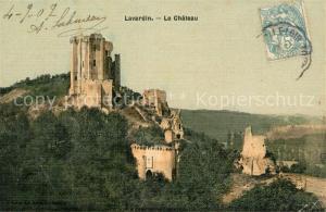 AK / Ansichtskarte Lavardin_Loir et Cher Ruines du Chateau Schloss Ruinen Lavardin Loir et Cher