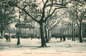 AK / Ansichtskarte Saint Etienne_Loire Place Jean Jaures Promenade et Kisoque Saint Etienne Loire