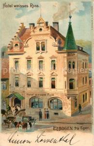 AK / Ansichtskarte Elbogen_Tschechien Hotel Weiisses Ross Elbogen Tschechien