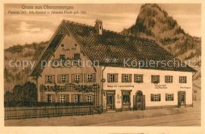 AK / Ansichtskarte Oberammergau Pension Posch Oberammergau