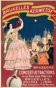 AK / Ansichtskarte Bruxelles_Bruessel Kermesse Brasserie Concert Attractions Bruxelles_Bruessel