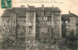 AK / Ansichtskarte Boussac_Creuse Le Chateau rabati au XVe siecle Boussac Creuse