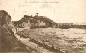 AK / Ansichtskarte Granville_Manche La Plage a maree basse Granville_Manche