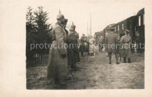 AK / Ansichtskarte Kamien_Koszyrski Feldbahn Regiment Ankunft Koenig von Bayern Kamien Koszyrski