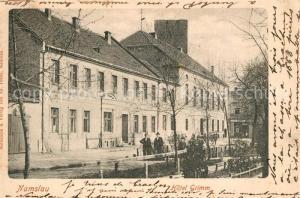 AK / Ansichtskarte Namslau_Niederschlesien Hotel Grimm Namslau_Niederschlesien