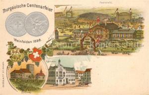 AK / Ansichtskarte Weinfelden Thurgauische Centenarfeier Festplatz Rathaus Weinfelden