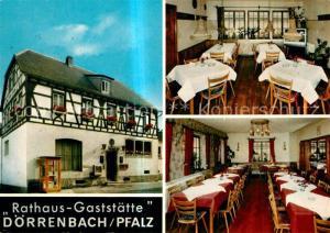 AK / Ansichtskarte Doerrenbach Rathaus Gaststaette Gastraeume Doerrenbach