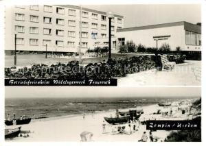AK / Ansichtskarte Zempin Betriebsferienheim Waelzlagerwerk Fraureuth Strandpartie Zempin