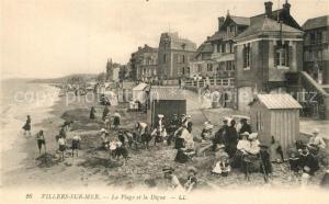 AK / Ansichtskarte Villers sur Mer La plage et la digue Villers sur Mer