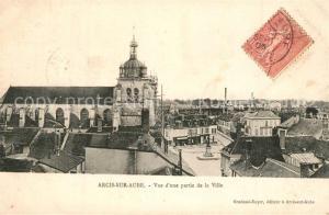 AK / Ansichtskarte Arcis sur Aube Vue d une partie de la ville Eglise Arcis sur Aube