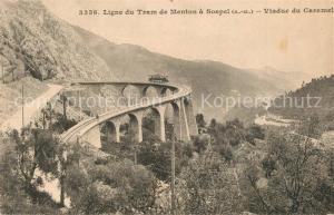 AK / Ansichtskarte Menton_Alpes_Maritimes Ligne du Tram de Menton a Sospel Viaduc du Caramel Menton_Alpes_Maritimes