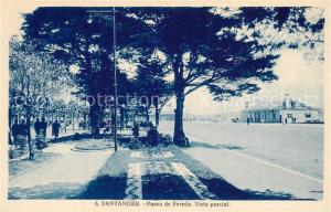 AK / Ansichtskarte Santander Paseo de Pereda Vista parcial Santander