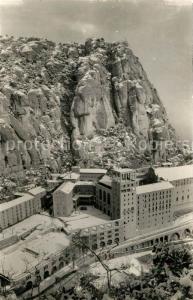 AK / Ansichtskarte Montserrat_Kloster El Monasterio nevado Montserrat_Kloster