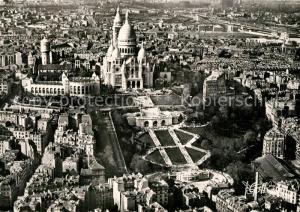 AK / Ansichtskarte Paris Vue aerienne La Basilique du Sacre Coeur de Montmartre Paris