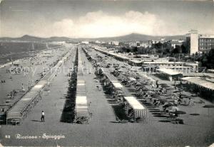 AK / Ansichtskarte Riccione Spiaggia Riccione
