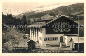 AK / Ansichtskarte Riezlern_Kleinwalsertal_Vorarlberg Grenzgasthaus Walserschanz Alpen Riezlern_Kleinwalsertal