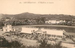 AK / Ansichtskarte San_Sebastian_Guipuzcoa El Hipodromo de Lasarte Pferderennbahn San_Sebastian_Guipuzcoa
