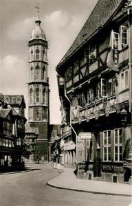 AK / Ansichtskarte Braunschweig Alte Waage und St Andreaskirche Braunschweig