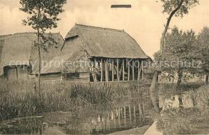 AK / Ansichtskarte Hofstede_Antwerpen Alter Bauernhof Partie am Wasser Hofstede_Antwerpen