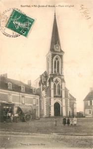 AK / Ansichtskarte Saint Jean d_Asse Place Eglise Saint Jean d Asse
