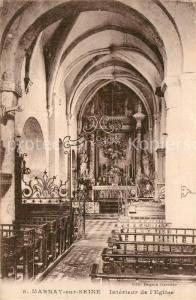 AK / Ansichtskarte Marnay sur Seine Interieur de l Eglise Marnay sur Seine