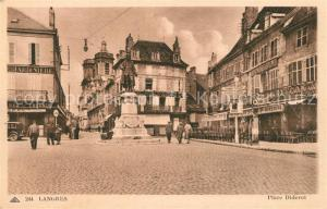 AK / Ansichtskarte Langres Place Diderot Monument Statue Langres