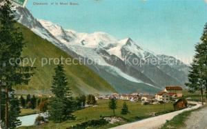AK / Ansichtskarte Chamonix Panorama village et le Mont Blanc Alpes Chamonix