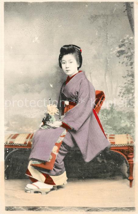 AK / Ansichtskarte Typen_Asien Frau Kimono China  Typen Asien 0