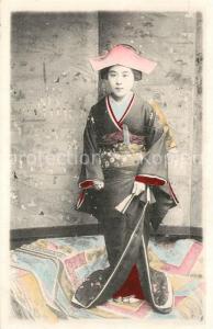 AK / Ansichtskarte Typen_Asien Frau Kimono China  Typen Asien