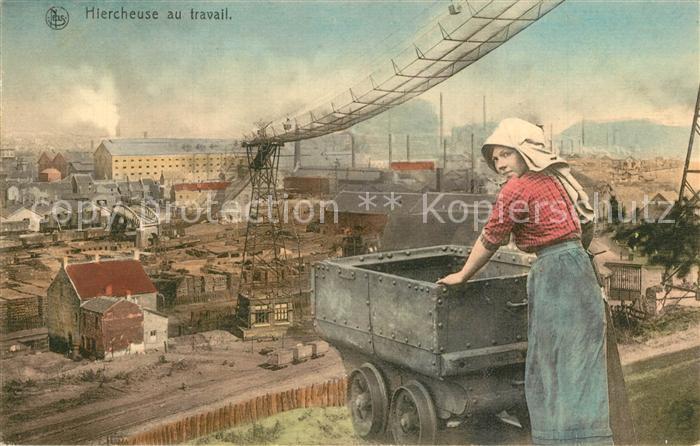 AK / Ansichtskarte Tagebau_Daylight_Mining Hiercheuse au Travail Brussels  0