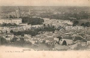 AK / Ansichtskarte Saintes_Charente Maritime Vue generale prise du Clocher Saint Eutrope Saintes Charente Maritime