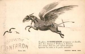 AK / Ansichtskarte Gonfaron Ane volant Gonfaron