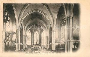 AK / Ansichtskarte Saint Gratien_Oise Interieur de l Eglise Saint Gratien Oise