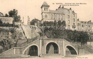 AK / Ansichtskarte Nantes_Loire_Atlantique Escalier des Cent Marches Statue de Sainte Anne Nantes_Loire_Atlantique