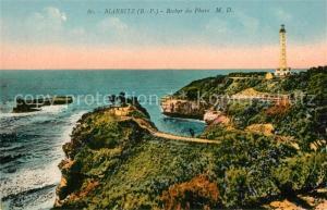 AK / Ansichtskarte Biarritz_Pyrenees_Atlantiques Rocher du Phare Cote Atlantique Biarritz_Pyrenees
