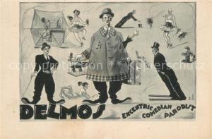 AK / Ansichtskarte Komiker Delmos Excentric Comedian Parodist  Komiker