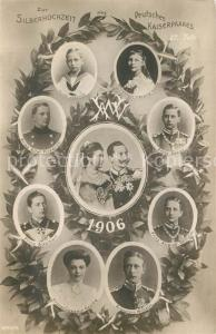AK / Ansichtskarte Wilhelm_II Silberhochzeit Kaiserpaar
