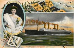 AK / Ansichtskarte Dampfer_Oceanliner Kronprinzessin Cecilie