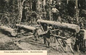 AK / Ansichtskarte Neukaledonien Waldarbeiten Neukaledonien