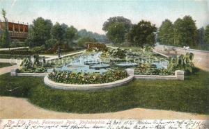AK / Ansichtskarte Philadelphia_Pennsylvania Lily Pond Fairmount Park Philadelphia_Pennsylvania
