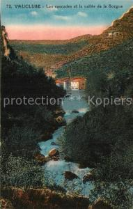 AK / Ansichtskarte Fontaine de Vaucluse Les cascades et la vallee de la Sorgue Fontaine de Vaucluse