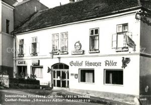 AK / Ansichtskarte Friedberg_Steiermark Gasthof Pension Schwarzer Adler  Friedberg_Steiermark