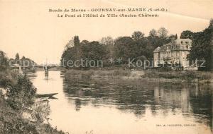 AK / Ansichtskarte Gournay sur Marne Marne Pont Hotel de Ville Chateau Gournay sur Marne