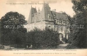 AK / Ansichtskarte Claye Souilly Chateau des Tourelles Claye Souilly
