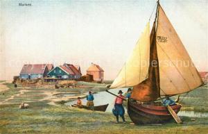 AK / Ansichtskarte Marken Wohnhaeuser der Insel Segelboot Wasserstrasse Trachten Photochromie Serie 164 Nr 2946 Marken