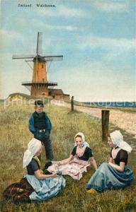 AK / Ansichtskarte Walcheren Kinder Trachten Windmuehle Photochromie Serie 165 Nr 2965 Walcheren