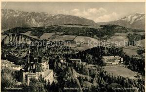 AK / Ansichtskarte Semmering_Niederoesterreich Suedbahnhotel Kurhaus Alpenpanorama Semmering